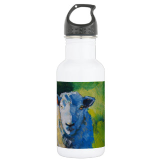 Sheep Painting Water Bottle