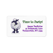 Sheep Party Center Label