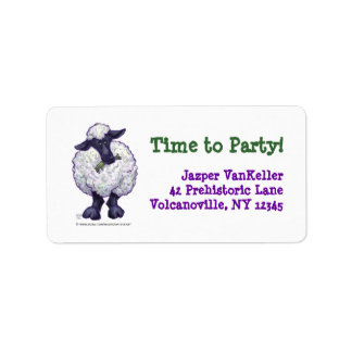 Sheep Party Center Personalized Address Labels