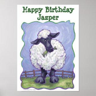 Sheep Party Center Print