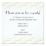 "Sheep Pattern. 5.25"" Square Invitation Card"
