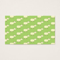 Sheep Pattern. Business Card