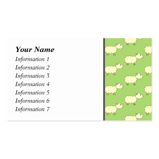 Sheep Pattern. Business Card Template