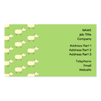 Sheep Pattern. Business Card Templates