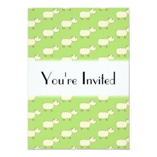 Sheep Pattern. Invitations