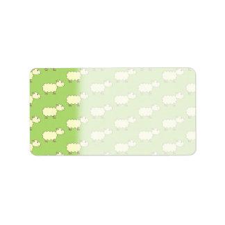 Sheep Pattern. Custom Address Labels