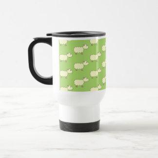 Sheep Pattern. 15 Oz Stainless Steel Travel Mug