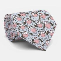 Sheep Pattern Neck Tie