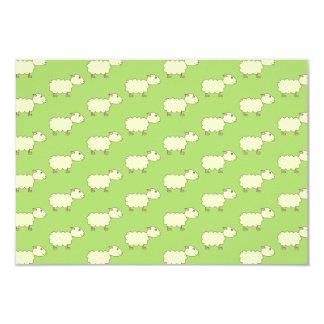 Sheep Pattern. Personalized Invite