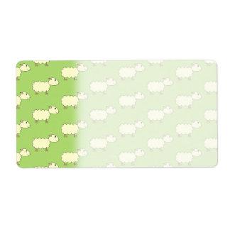 Sheep Pattern. Personalized Shipping Label