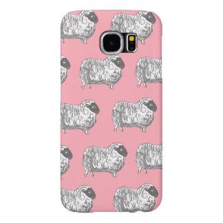 Sheep Pattern Pink Samsung Galaxy S6 Case