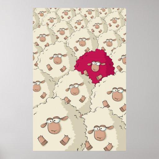 Sheep Pattern Print