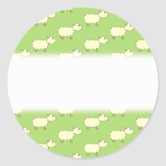 Sheep Pattern. Round Stickers