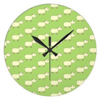 Sheep Pattern. Round Wall Clock