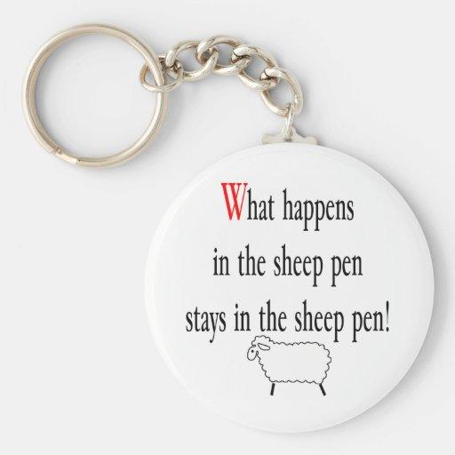 Sheep Pen Key Chain