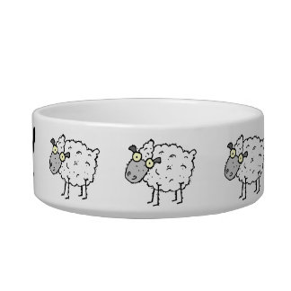Sheep Pet Dish Cat Water Bowl