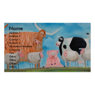 sheep pig highland cow Double-Sided standard business cards (Pack of 100)