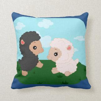 "Sheep pillow -Polyester Throw Pillow 16"" x 16"""