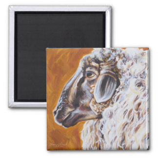 Sheep Profile 2 Inch Square Magnet