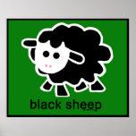 sheep.psd negro póster