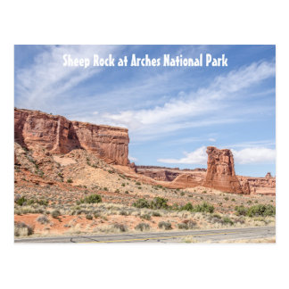 Sheep Rock in Arches National Park Postcard