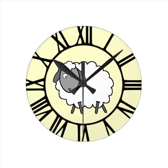 Sheep Round Clock