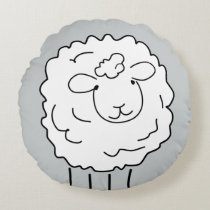 Sheep Round Pillow
