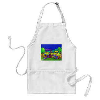 Sheep Roundup by Piliero Adult Apron