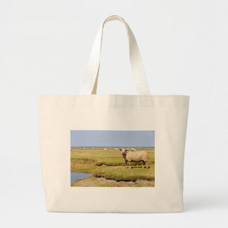 Sheep salt meadows jumbo tote bag