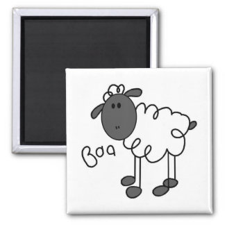 Sheep Says Baa T-shirts and Gifts 2 Inch Square Magnet