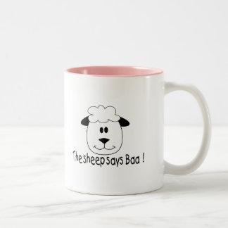 Sheep Says Baa Two-Tone Coffee Mug