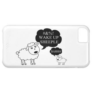 Sheep Says Wake Up Sheeple iPhone 5C Cases