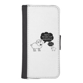 Sheep Says Wake Up Sheeple iPhone SE/5/5s Wallet