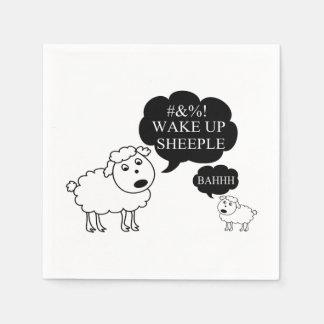 Sheep Says Wake Up Sheeple Paper Napkin