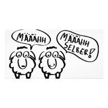 sheep schafe määähhh määhhh selber ! card