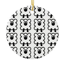 SHEEP (several forms) Ceramic Ornament