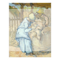 Sheep Shearer after Millet by Vincent Van Gogh Flyer