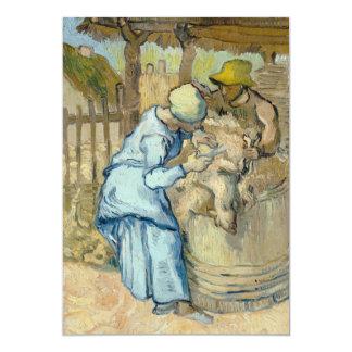 Sheep Shearer after Millet by Vincent Van Gogh Custom Invite