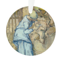 Sheep Shearer after Millet by Vincent Van Gogh Ornament