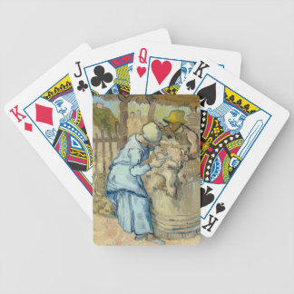Sheep Shearer after Millet by Vincent Van Gogh Bicycle Playing Cards