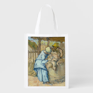 Sheep Shearer after Millet by Vincent Van Gogh Reusable Grocery Bag