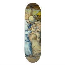 Sheep Shearer after Millet by Vincent Van Gogh Skateboard Deck