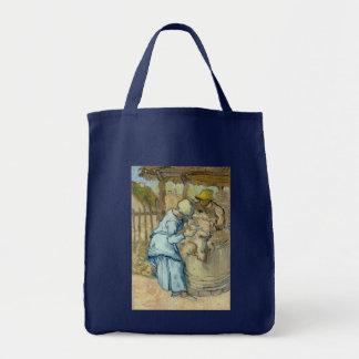 Sheep Shearer after Millet by Vincent Van Gogh Tote Bag
