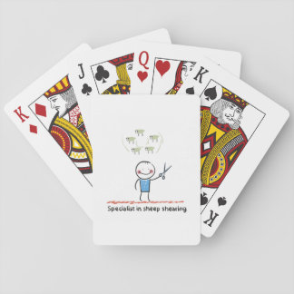 Sheep Shearing Specialist Playing Cards