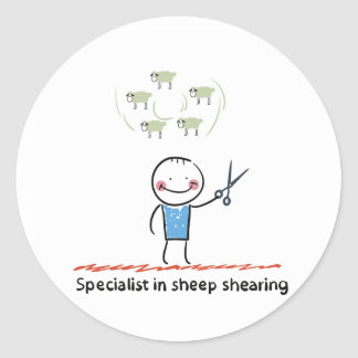 Sheep Shearing Specialist Stickers