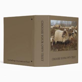 Sheep - Sheep in Heather field 3 Ring Binder