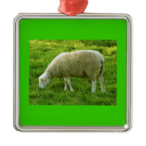 Sheep - Sheep Metal Ornament