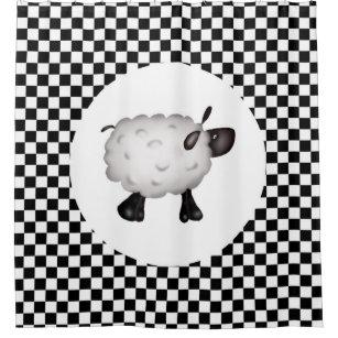 Cute Sheep Shower Curtains