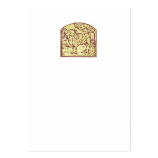 Sheep Side Pasture Tree Etching Pack Of Chubby Business Cards