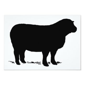 Sheep silhouette card